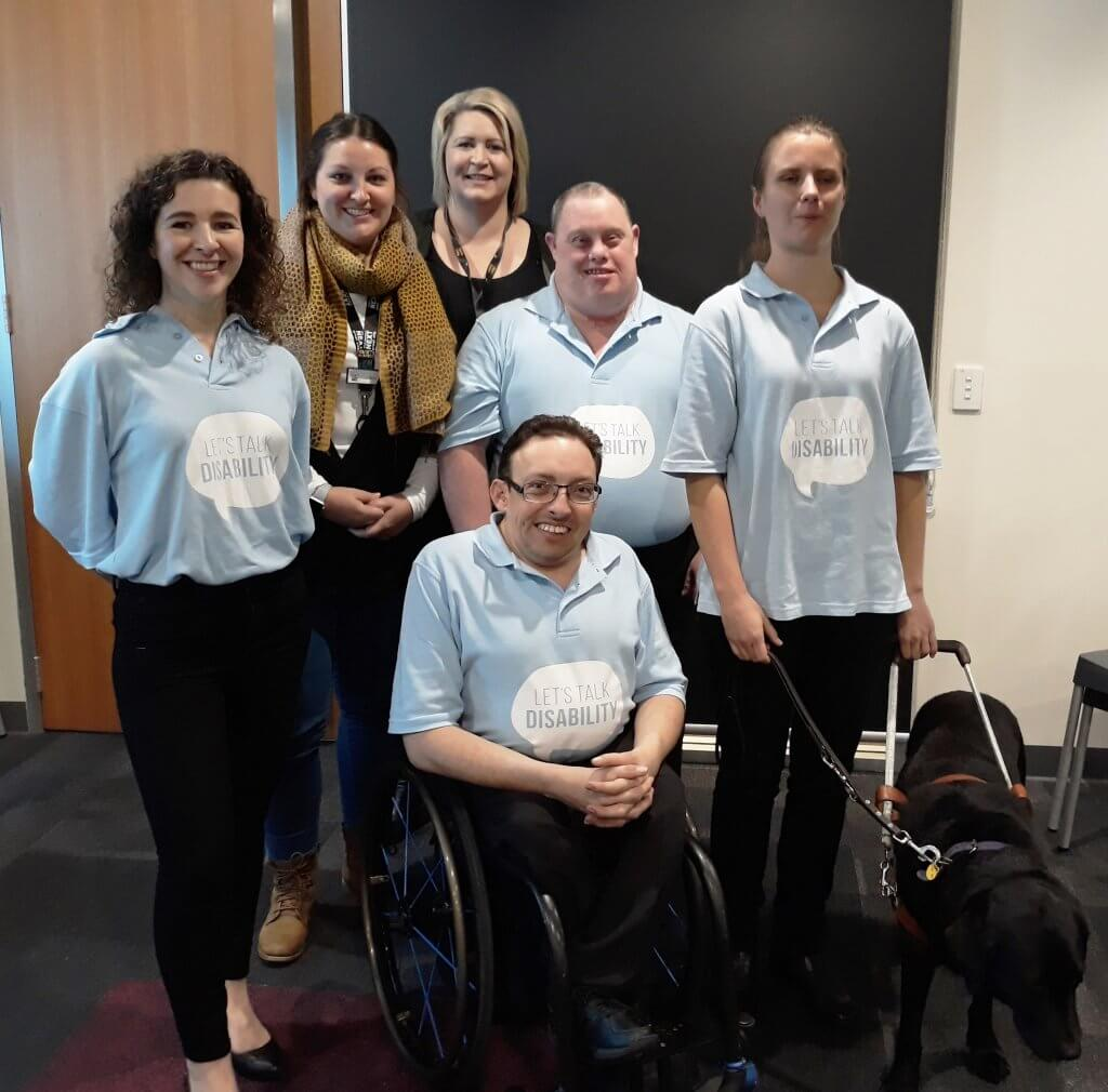 The Lets Talk Disability Team with staff members from the City of Playford